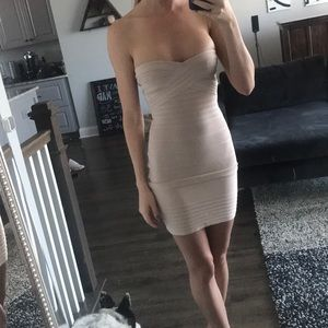 Dresses & Skirts - Nude bandage dress